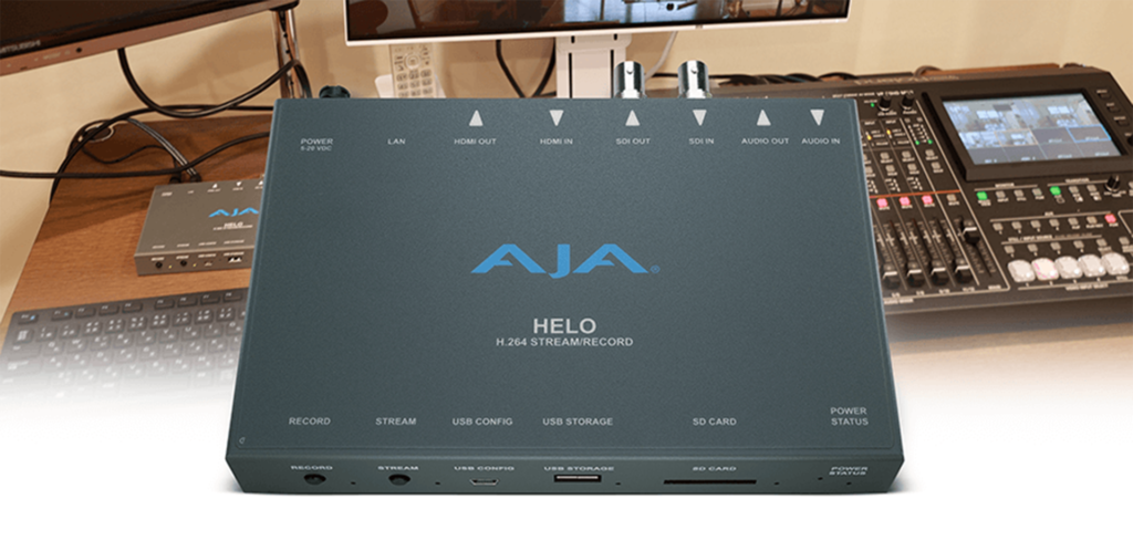 ALAMODE Live Streams & Records Web Content with AJA HELO