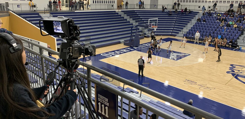 Spartanburg High School Live Streaming Game with AJA HELO