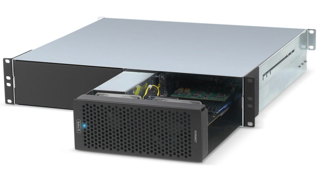 Sonnet Echo III rackmount with cards