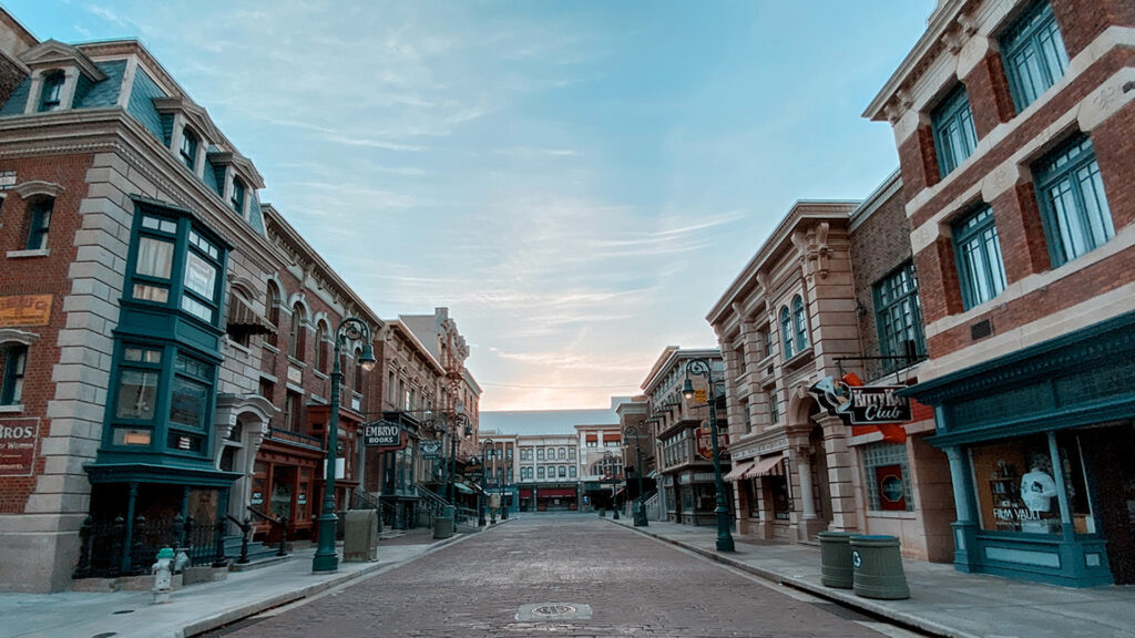 Universal Studios Florida Production Group Delancey Street location on the Backlot.