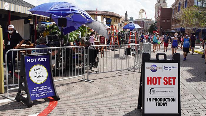 "Universal Studios Florida Production Group Hot set for 2020 ""David Makes Man"" production on the Backlot."