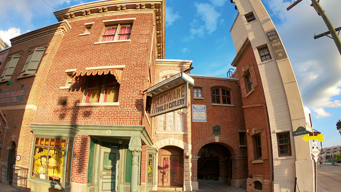 Universal Studios Florida Production Group Water Street location on the Backlot.
