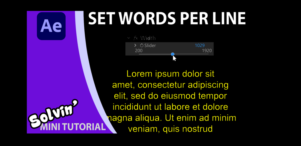 Graham Quince Tutorial for Text With Slider in Adobe After Effects