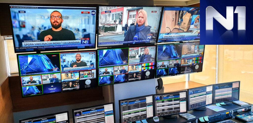 N1 TV Balkans Broadcast Network using Playbox Neo