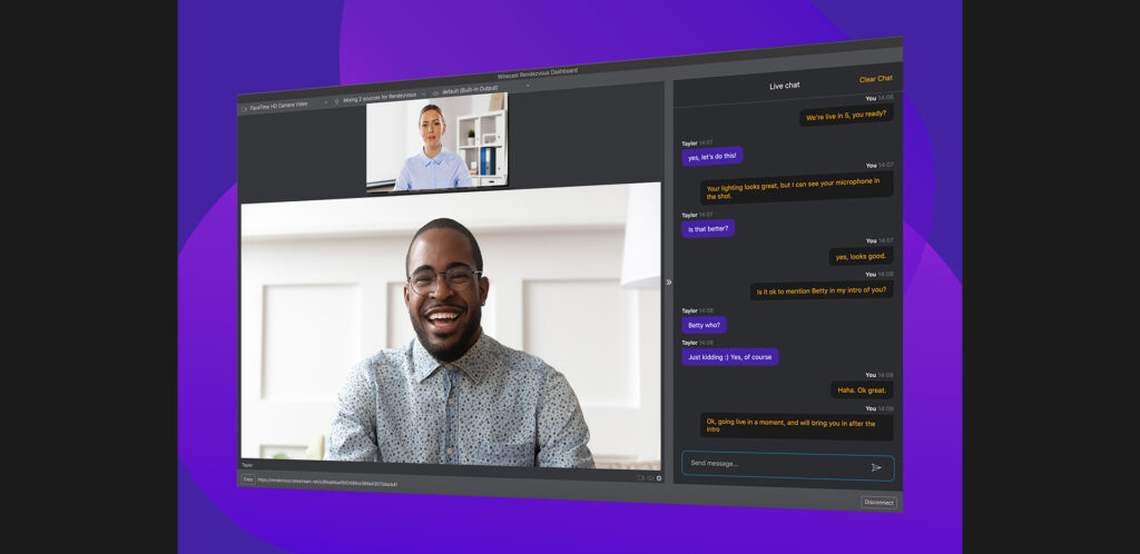Telestream Wirecast back channel chat