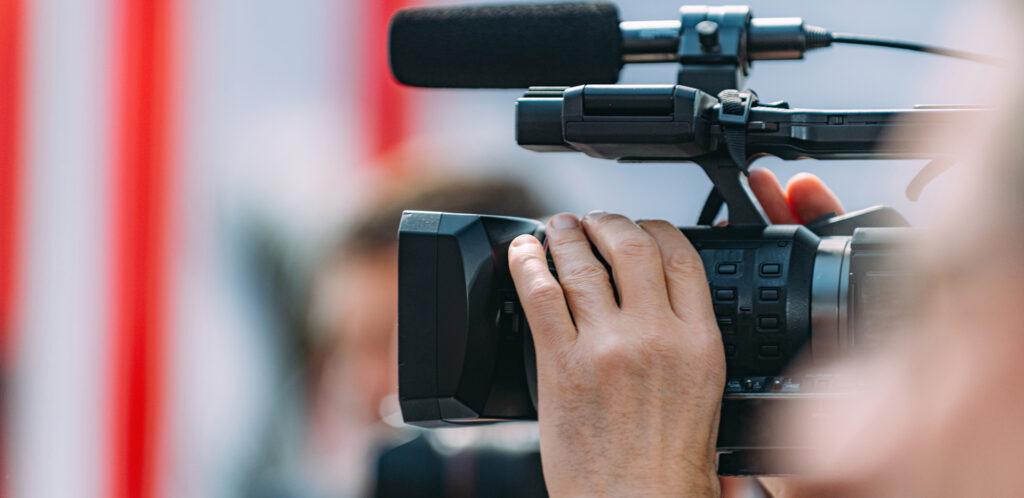 Professional digital video cameraman