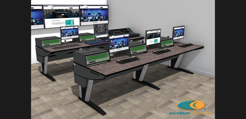 Custom Consoles Module R Desks for JNE Productions