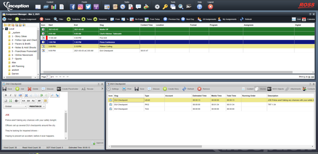 Inceptions Assignment Manager V15