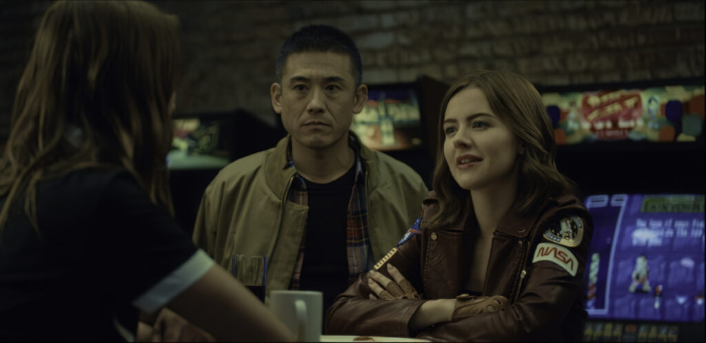 Yutaka Takeuchi and Sarah Dumont in Drive All Night