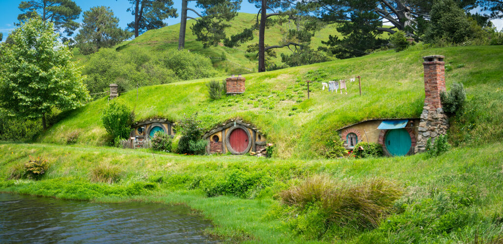 "Hobbiton movie set for ""The Hobbit"" in New Zealand"