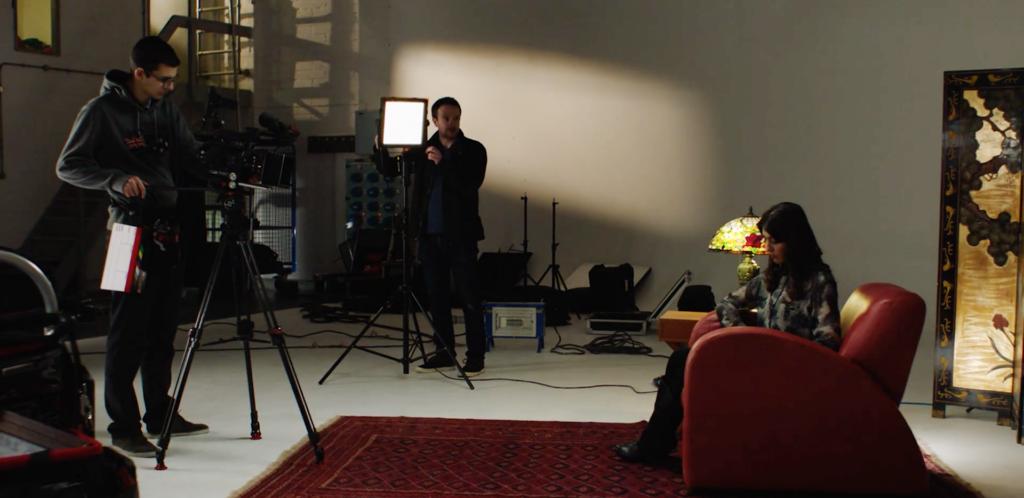 Lee lighting filters on set