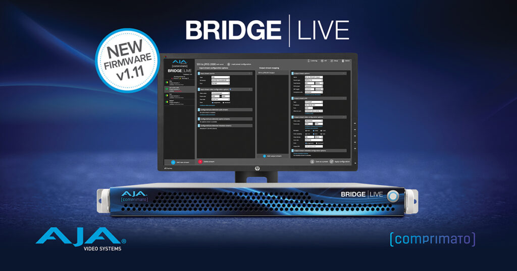 AJA Bridge Live v1.11 Update