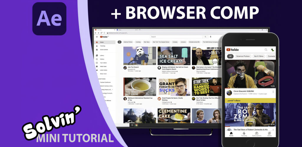Graham Quince After Effects Browser Comp Video Tutorial