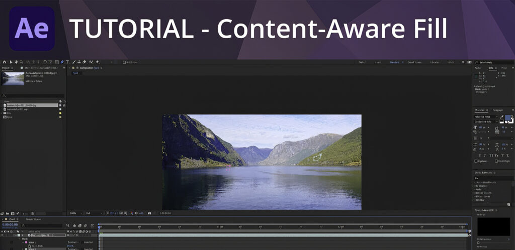 Content Aware Fill in After Effects Video Tutorial with Andy Ford
