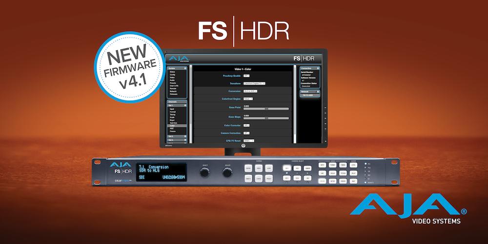 AJA Upgrades FS-HDR