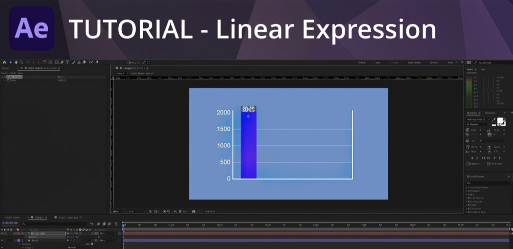 After Effects Tutorial - Using Linear Expressions to Animate a Bar Graph
