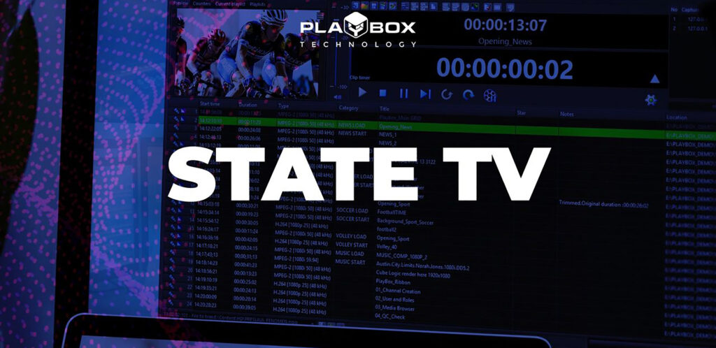 State TV upgrades to PlayBox Channel in a Box