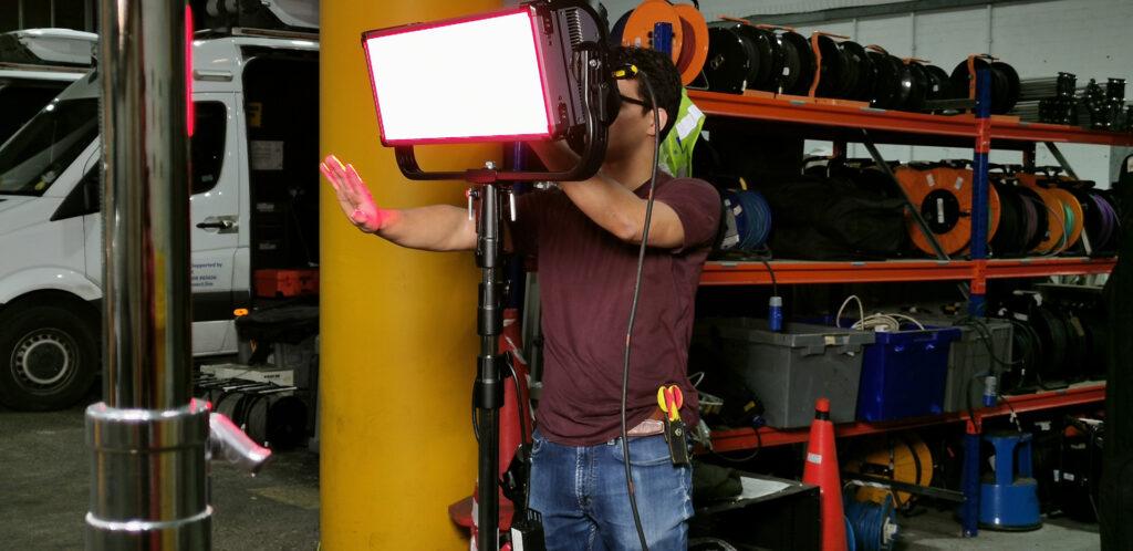 Freelance cinematographer Lily Grimes uses ETC fos/4 LED panels on Shoeshine