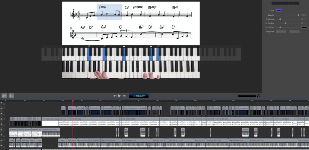 PianoGroove Screenflow