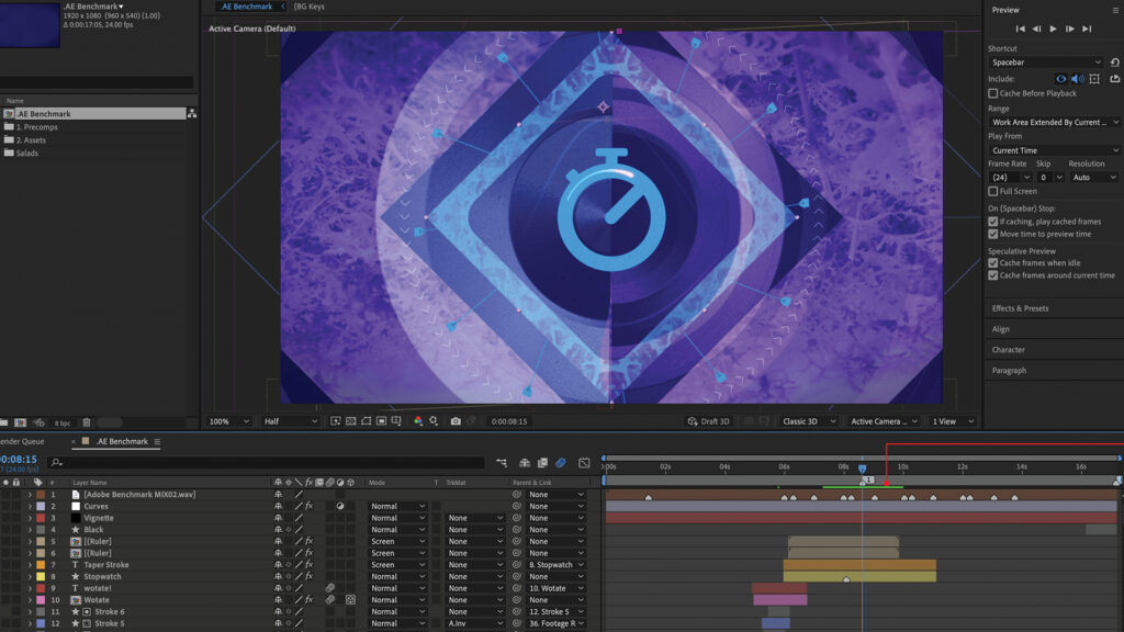Adobe After Effects Rendering
