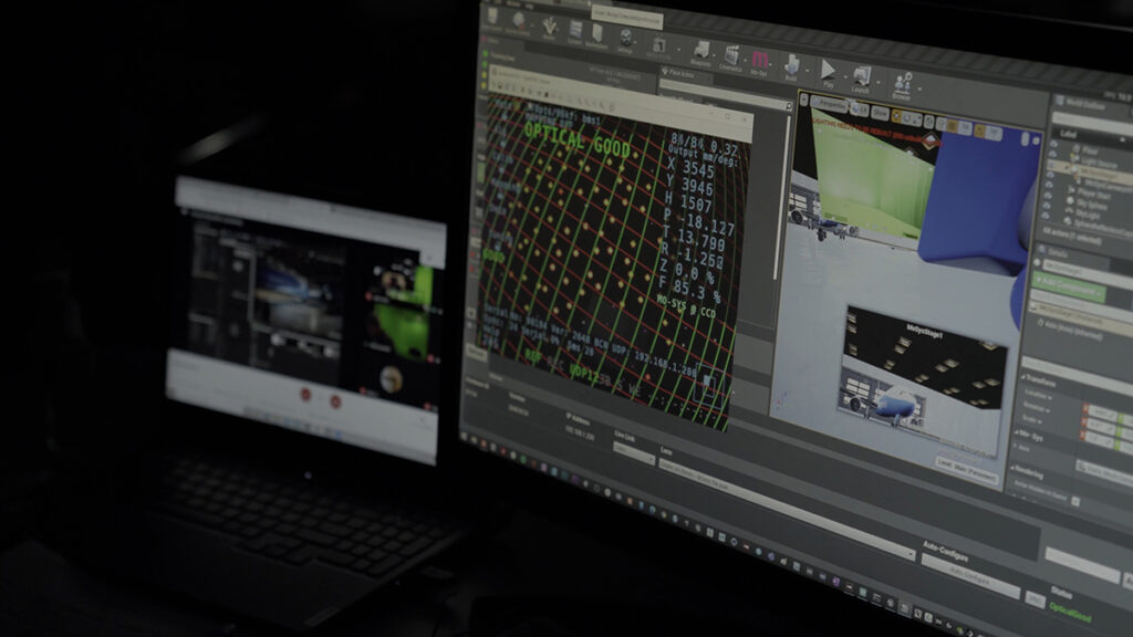 Papertown films in a virtual airplane using Mo-Sys new Onset VP Services