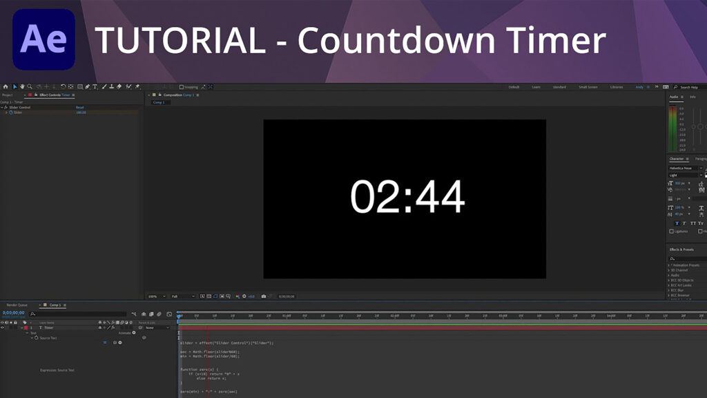 Andy Ford Countdown Timer Video Tutorial Adobe After Effects