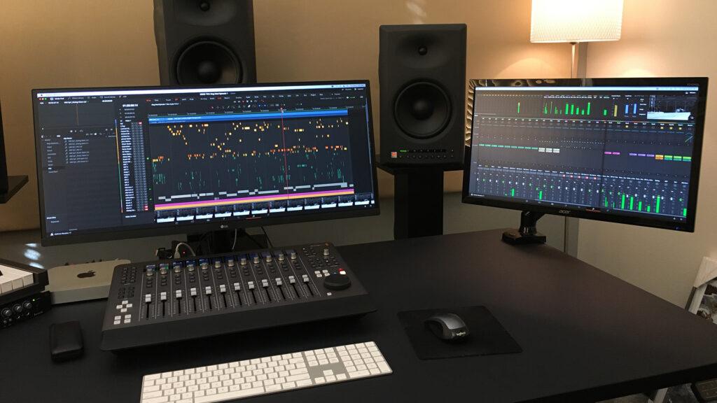 DaVinci Resolve Studio Fairlight Desktop Console Audio Post Magnificent Madness TV Series