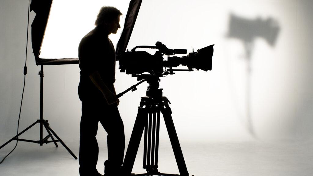 Cameraman Lighting Silhouette